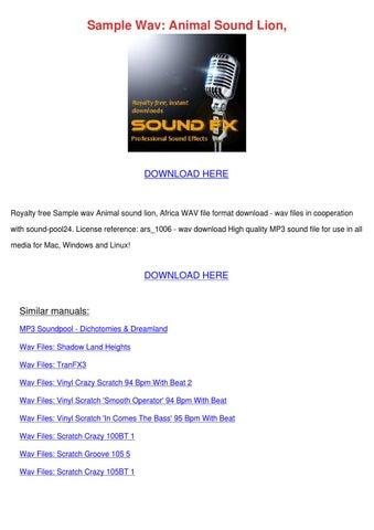 download sample mp3 sounds
