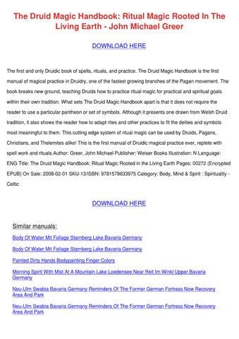 The Druid Magic Handbook Ritual Magic Rooted By Marcelomack Issuu