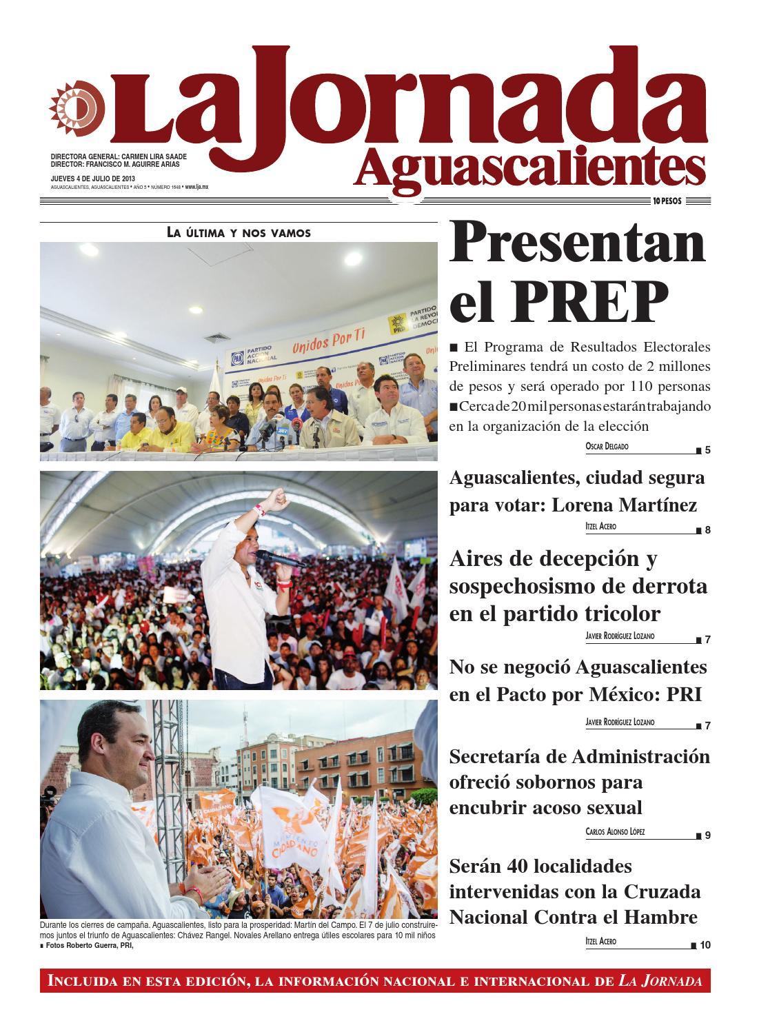 LJA04072013 by La Jornada Aguascalientes - issuu