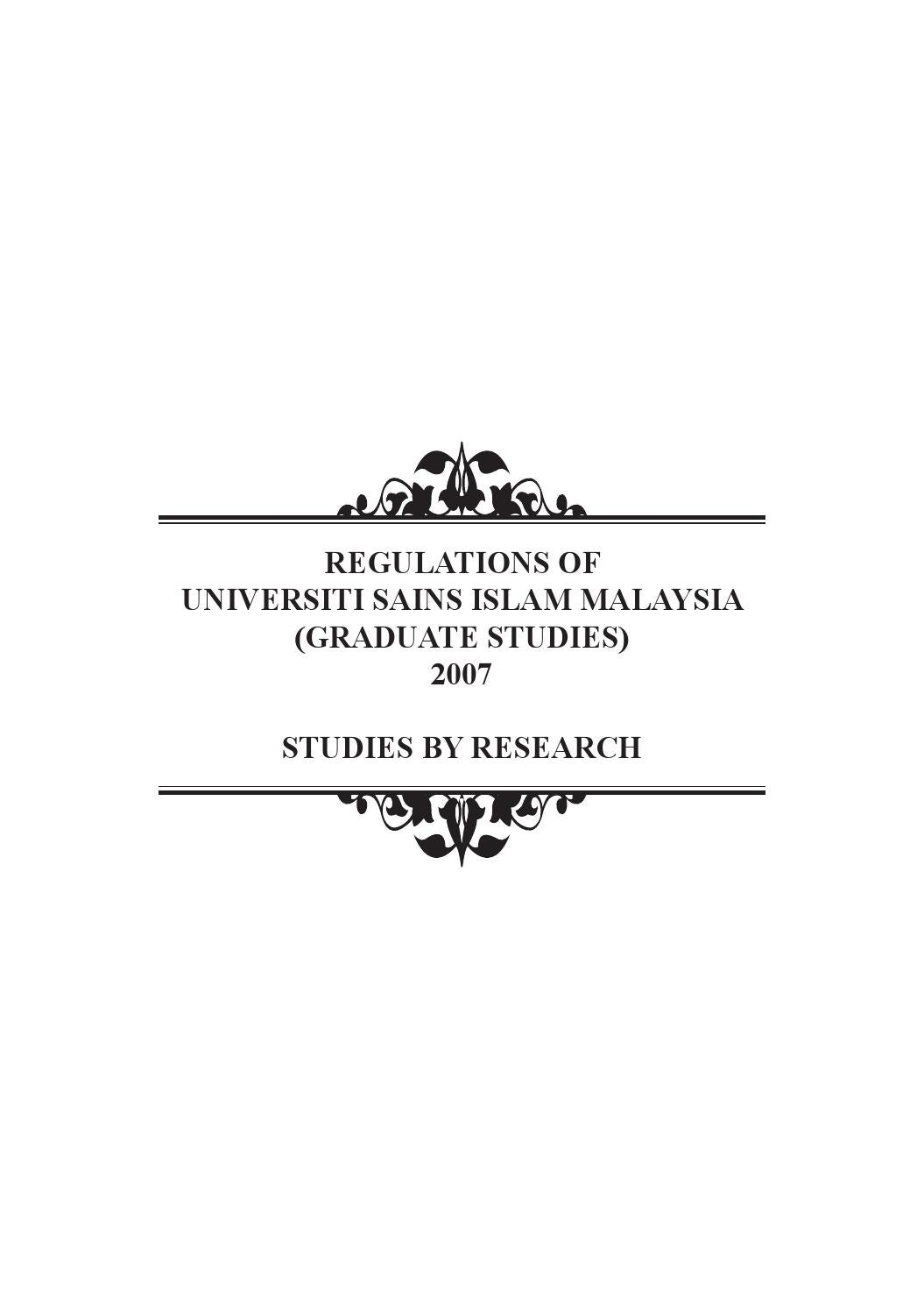 Regulations Of Usim Studies By Research By Goal Centre Issuu