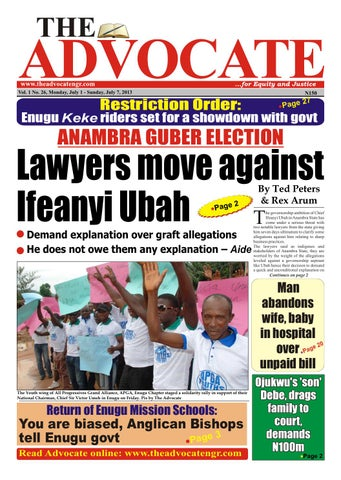 Lawyers move against Ifeanyi Ubah by Advocate Nigeria - issuu