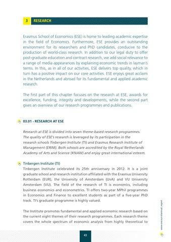Erasmus School of Economics Annual Report 2012 by Erasmus