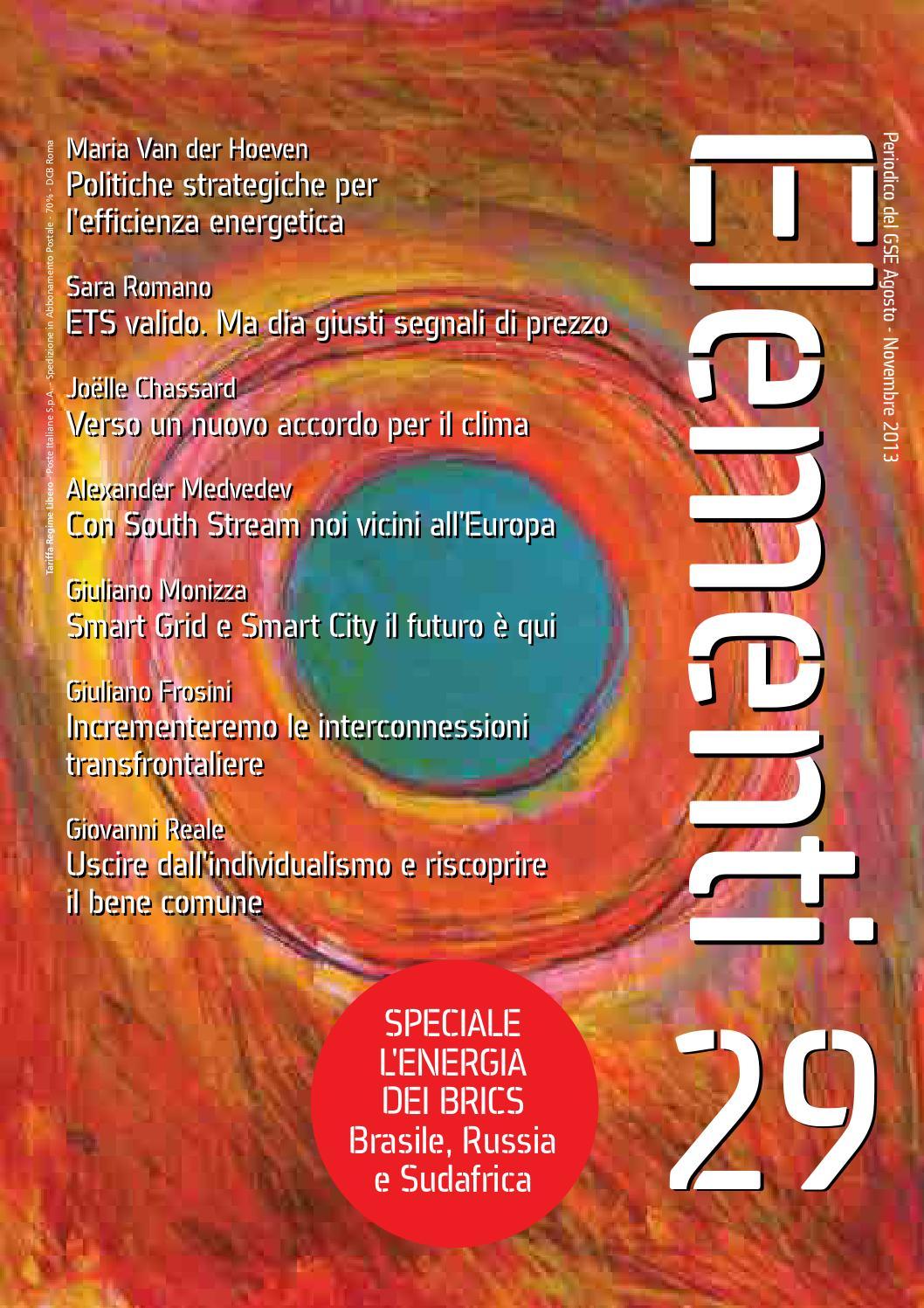 faaeca53669 Elementi 29 - Agosto 2013 - Novembre 2013 by Gestore dei Servizi Energetici  - GSE S.p.A. - issuu