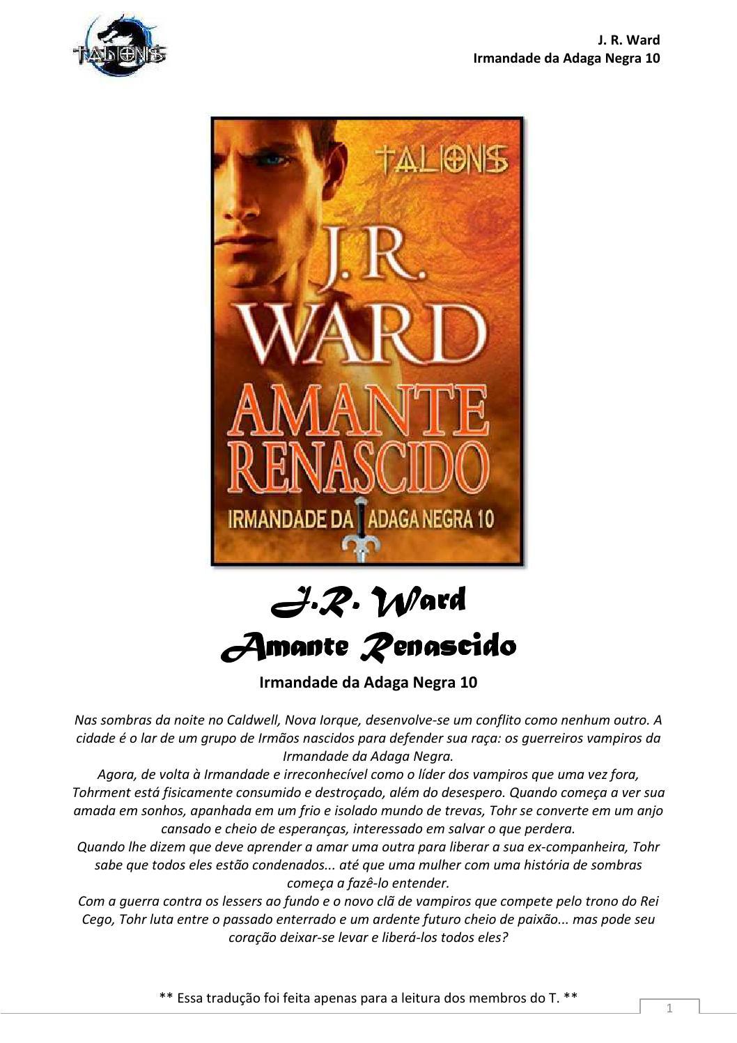 A irmandade da adaga negra livro 10 amante renascido by