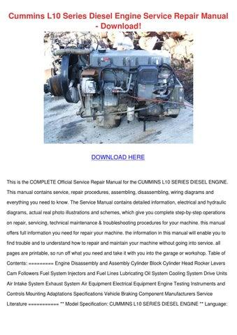 cummins l10 series diesel engine service repa by krystaljameson issuu