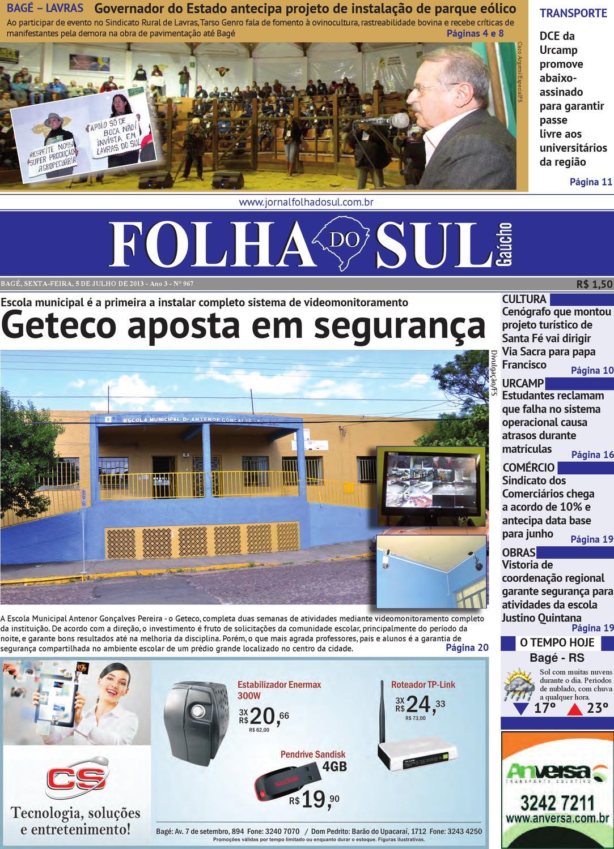 e7074042704 Folha do Sul Gaúcho Ed. 967 (05 07 2013) by Folha do Sul Gaúcho - issuu