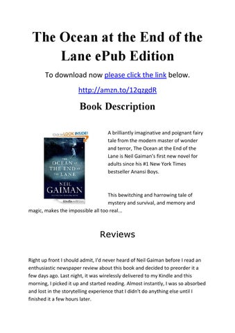 The Ocean At The End Of The Lane Epub