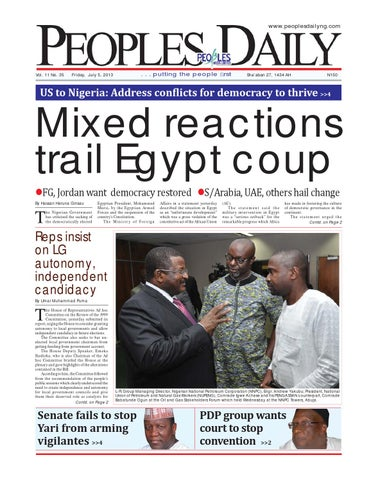 Peoples Daily Newspaper Friday 05 July 2013 By Peoples Media
