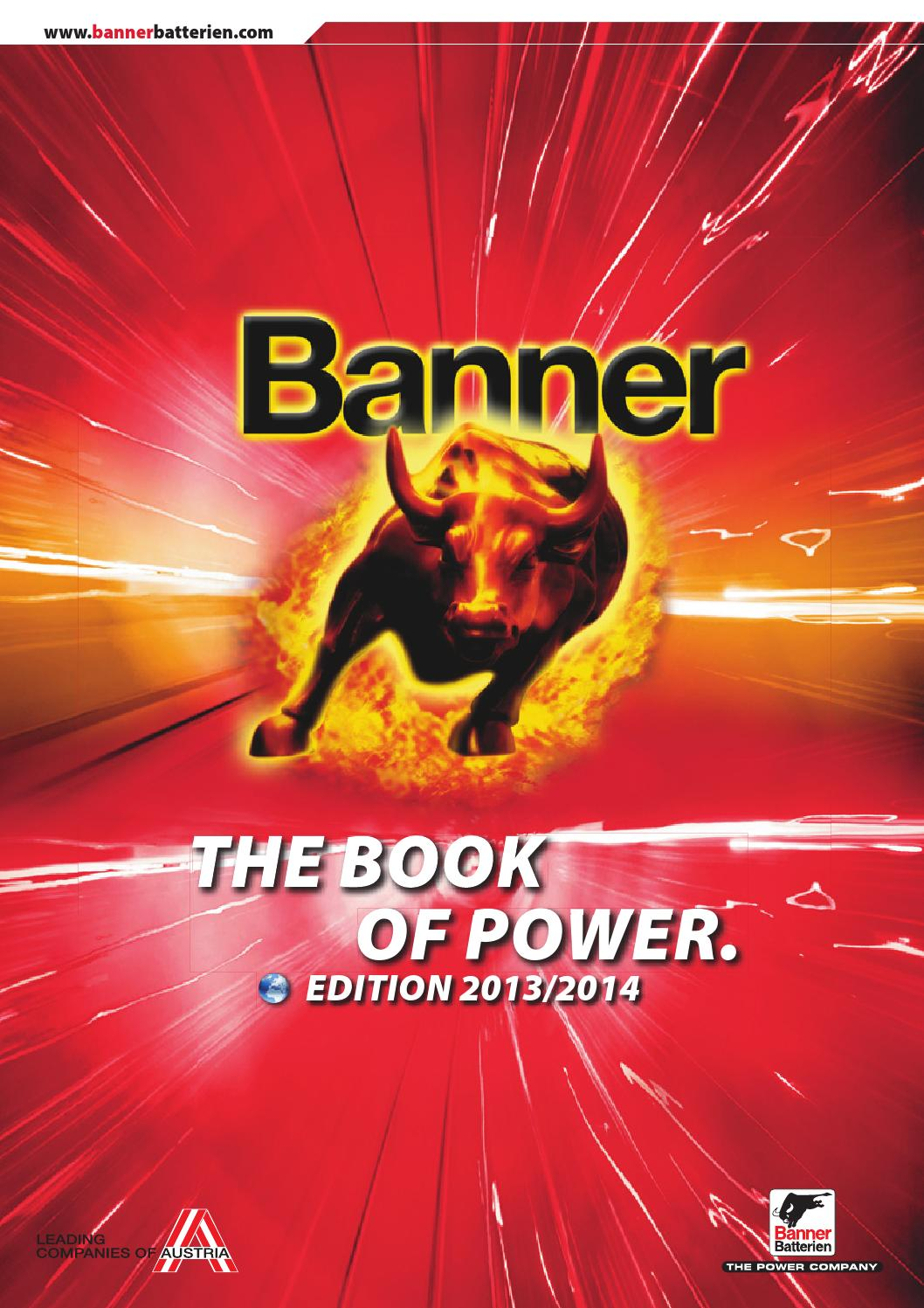 the best attitude 89795 9f75f THE BOOK OF POWER EXPORT GB 2013 by Banner Batterien - issuu