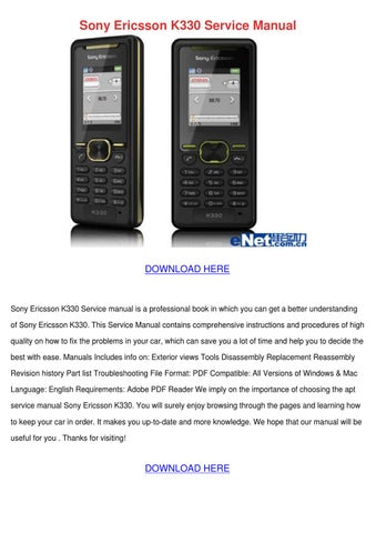 sony ericsson k330 service manual by traceyrutledge issuu rh issuu com Old Sony Ericsson sony ericsson k750i user manual download