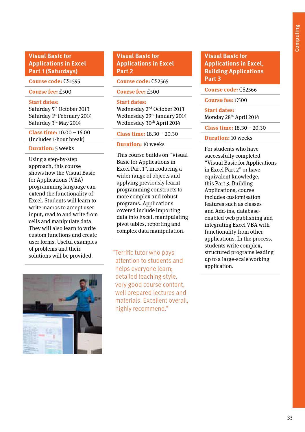 City Short Courses brochure by City, University of London