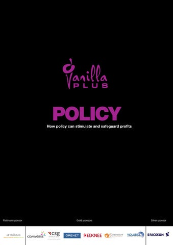 Policy - How policy can stimulate and safeguard profits by