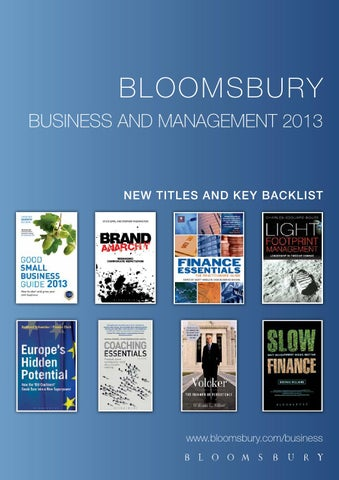 Bloomsbury business and management books by bloomsbury publishing bl o o m s b ury business and management 2013 fandeluxe Image collections