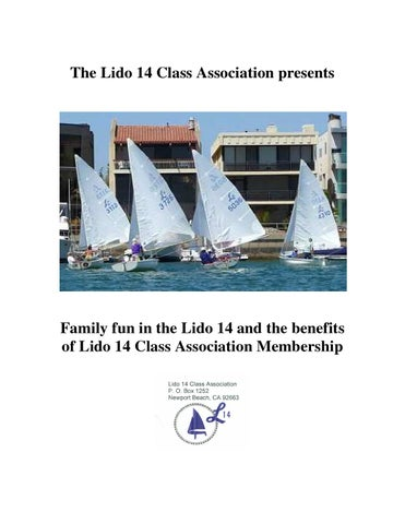 Benefits of Joining the Lido 14 Cl ociation by Steve Potter ...