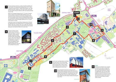 Loughborough University Map Loughborough University   Self guided tour by Loughborough  Loughborough University Map