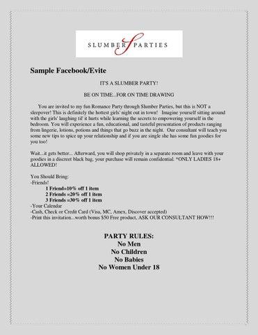 Sample Invitation By Romance Specialist
