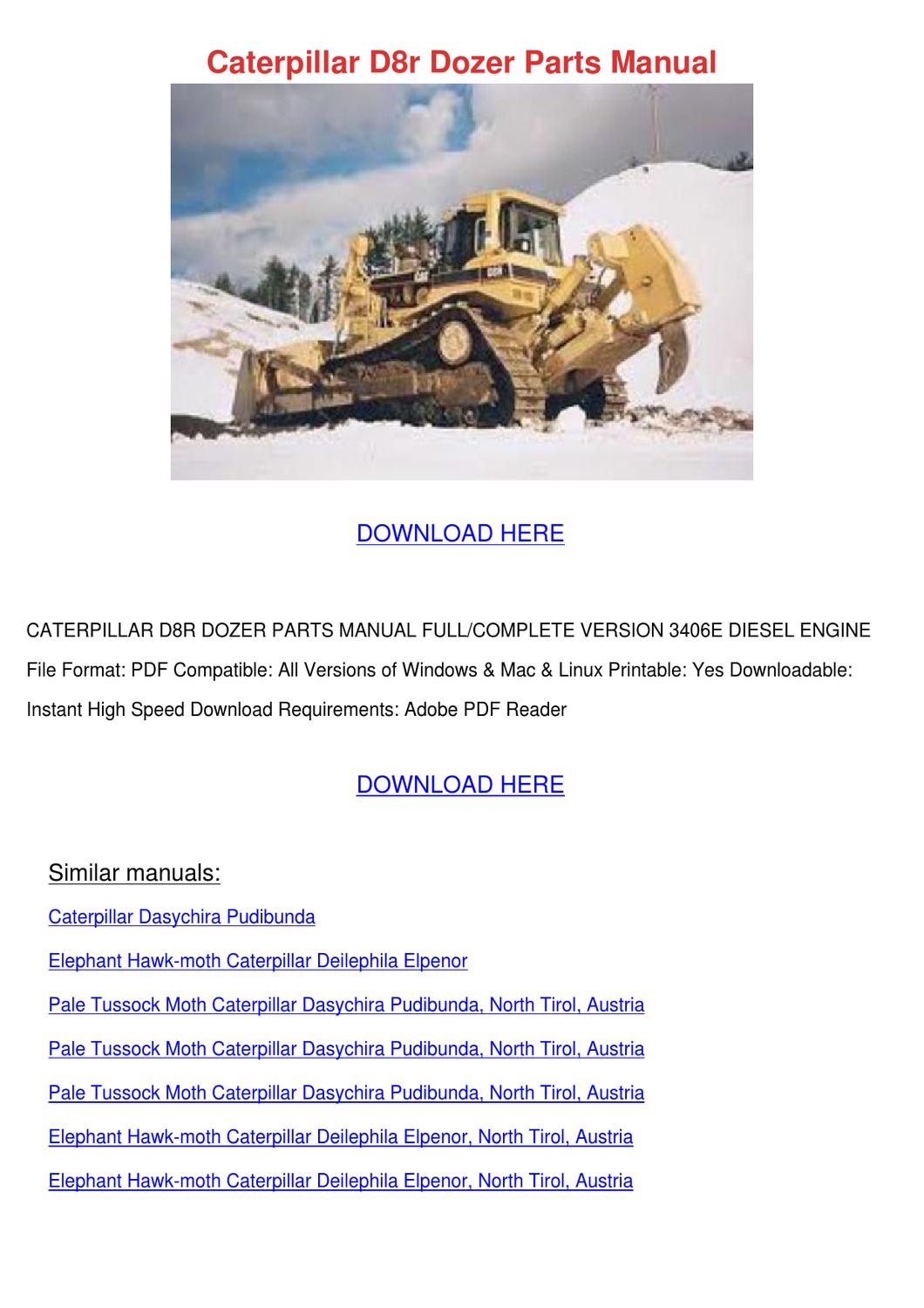 Caterpillar D4e Transmission Shop manual