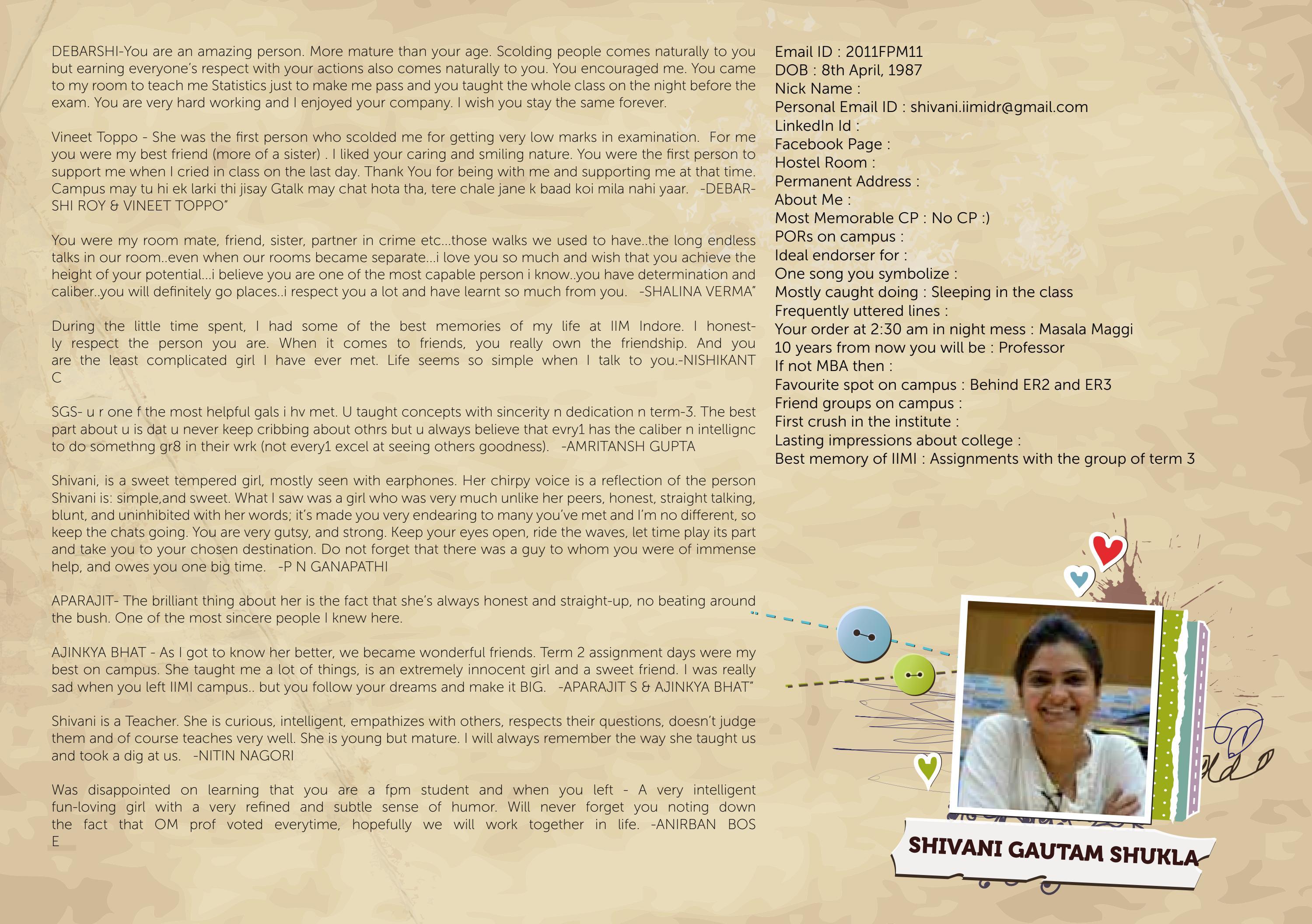 Iim Indore Testimonial 2 By Monami Bagchi Issuu