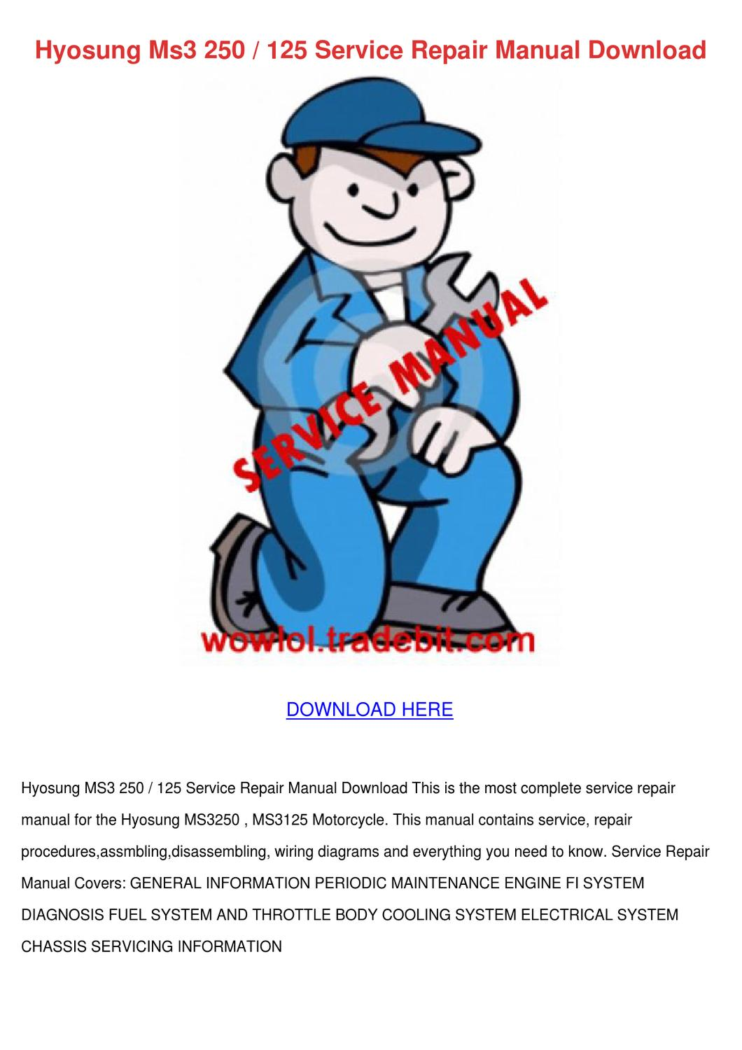 Hyosung Ms3 250 125 Service Repair Manual Dow By Candybentley Issuu Wiring Diagram
