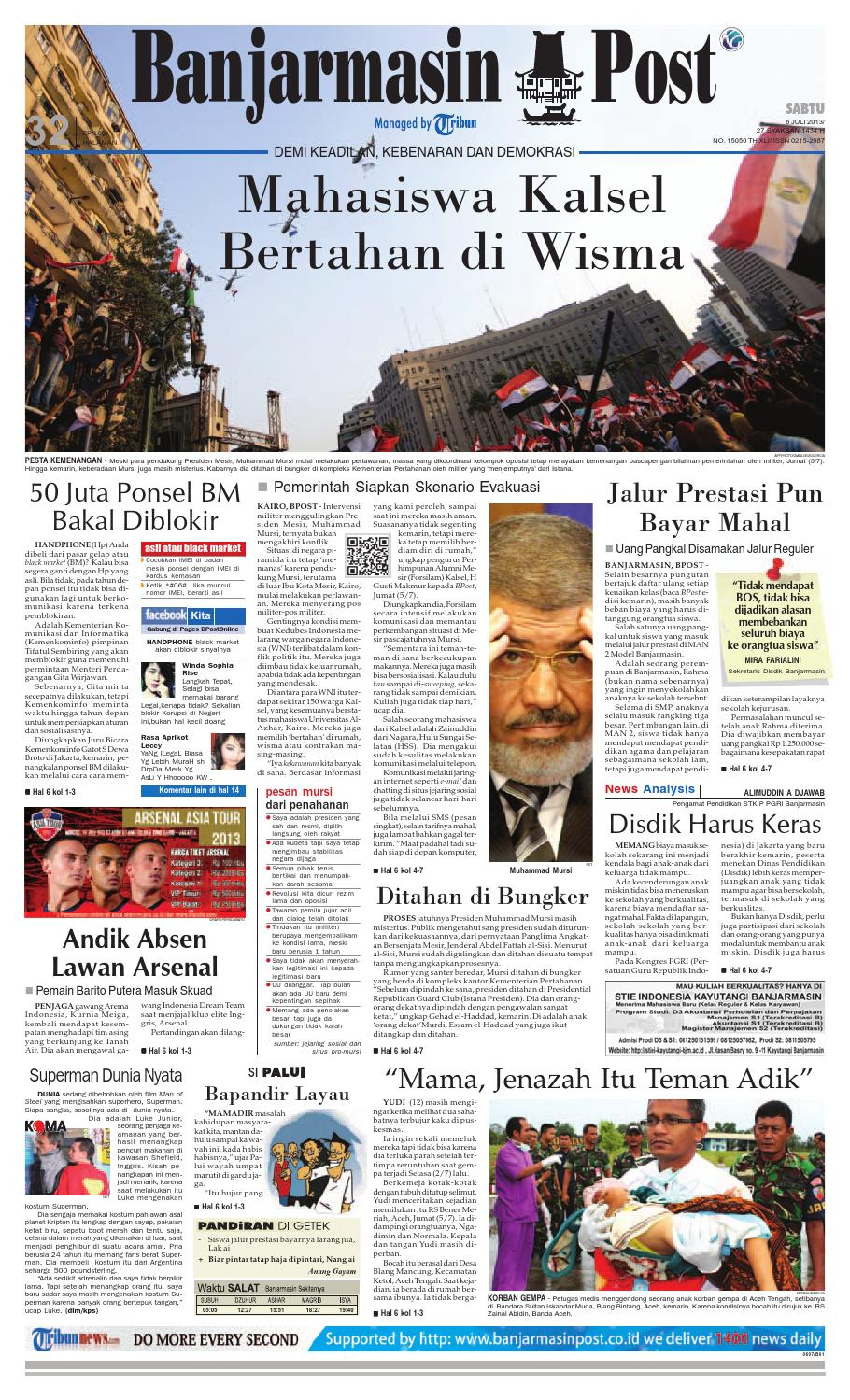 Banjarmasin Post Edisi Cetak Sabtu 6 Juli 2013 By Fcenter Lemari Pakaian Wd Hk 1802 Sh Jawa Tengah Issuu