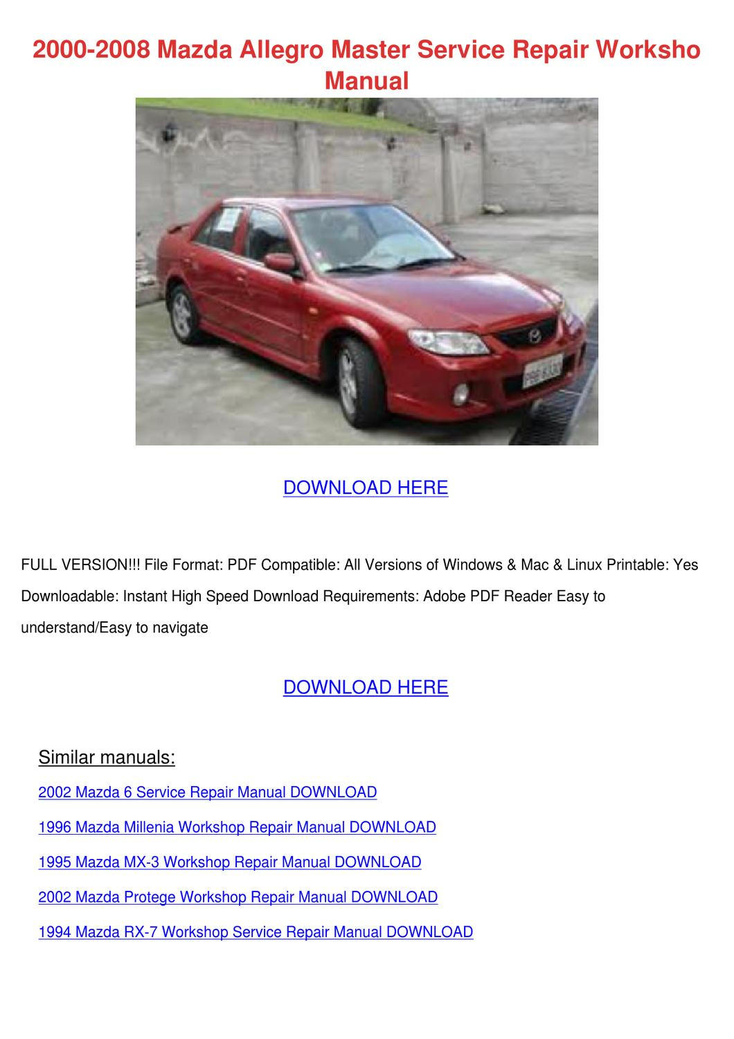2008 Mazda 3 - Owner s Manual (452 pages)
