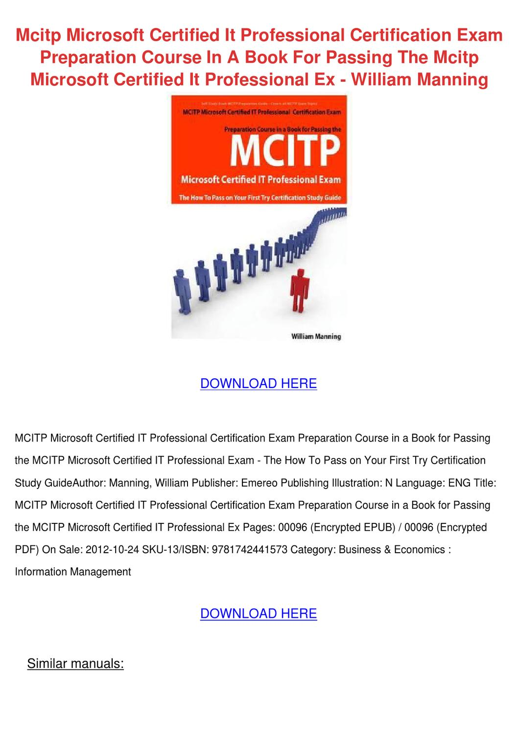 Mcitp Microsoft Certified It Professional Cer By Eugeniadeyoung Issuu