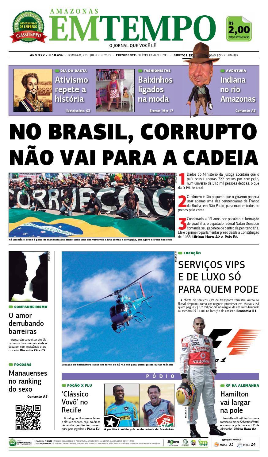 EM TEMPO - 7 de julho de 2013 by Amazonas Em Tempo - issuu 713039a05536a