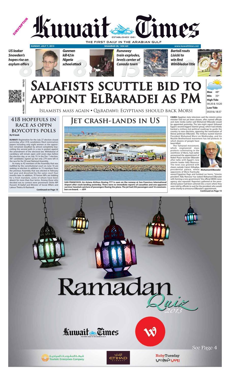7th Jul 2013 by Kuwait Times - issuu