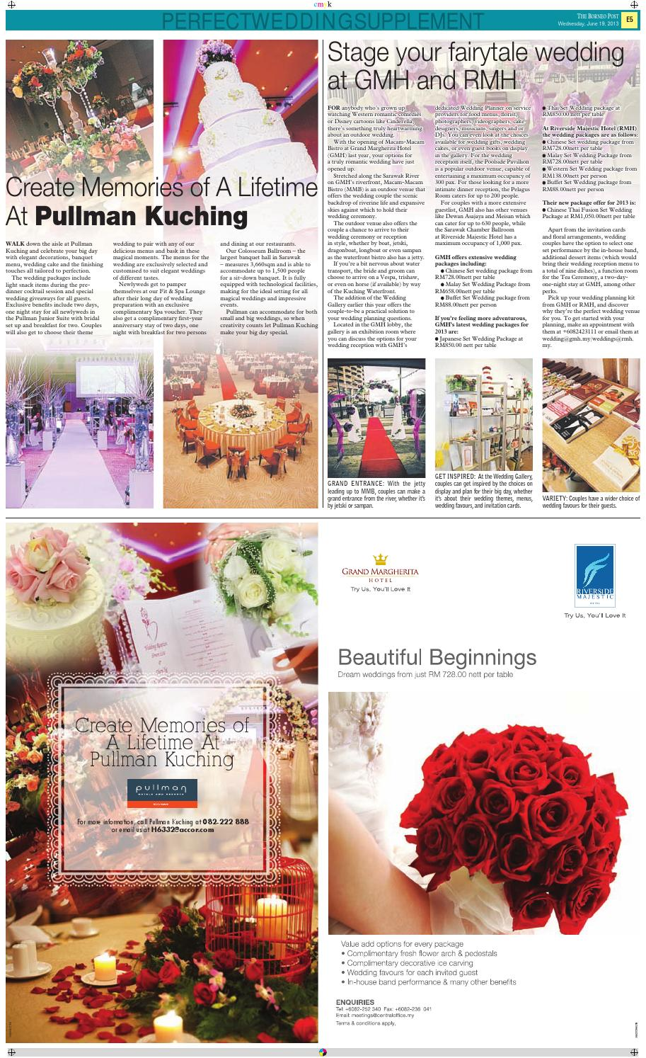 Perfect Wedding Supplement 2013 By Borneo Post Issuu
