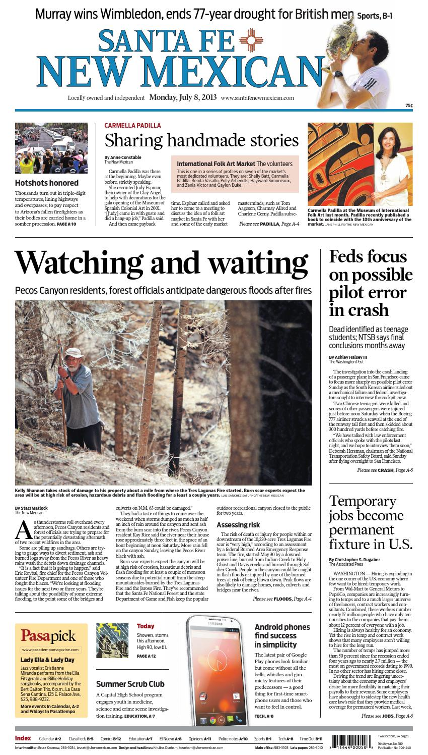 Santa Fe New Mexican, July 8, 2013 by The New Mexican - issuu