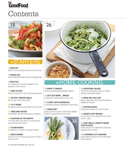 BBC Good Food Middle East Magazine | June 2013 by BBC Good ...Food Magazine Table Of Contents