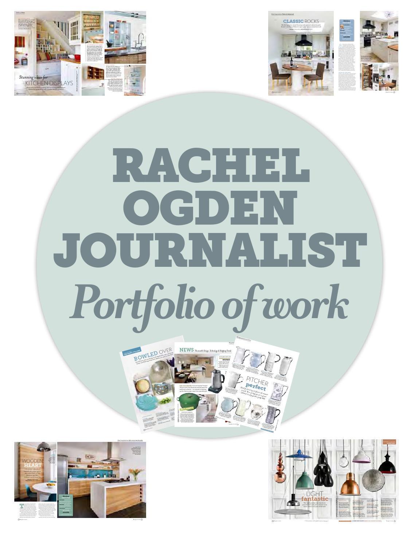 Rachel Ogden portfolio by Rachel Ogden - issuu