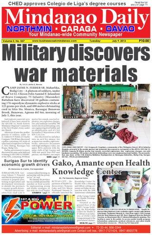 Mindanao Daily Caraga (July 9, 2013)