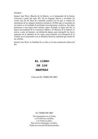 El libro de los Mantras by Miranda - issuu