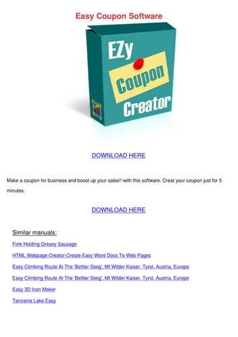 Easy Coupon Software By Juliusheim Issuu