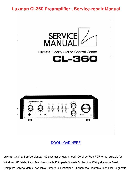 luxman cl 360 preamplifier service repair man by juliusheim - issuu  issuu