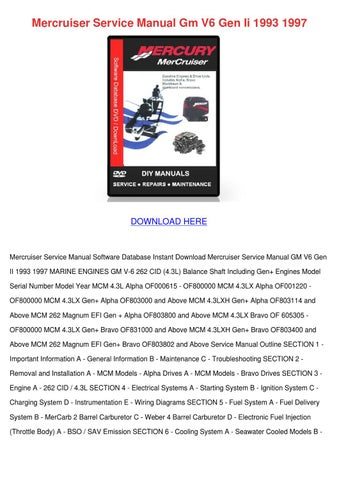 mercruiser service manual gm v6 gen ii 1993 1 by juliusheim issuu rh issuu com 1999 Mercruiser 7.4 MPI 1999 Mercruiser 7.4 MPI