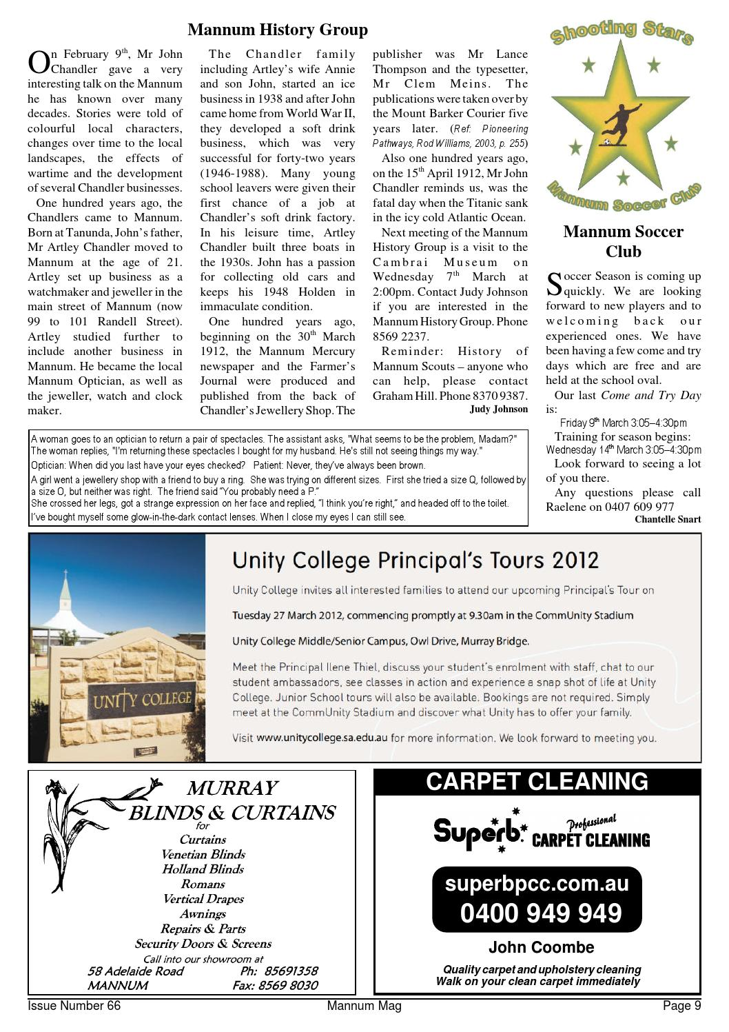 Mannum Mag Issue 66 March 2012 by Mannum Community Magazine