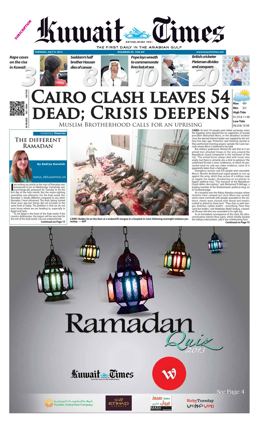 9th Jul 2013 by Kuwait Times - issuu