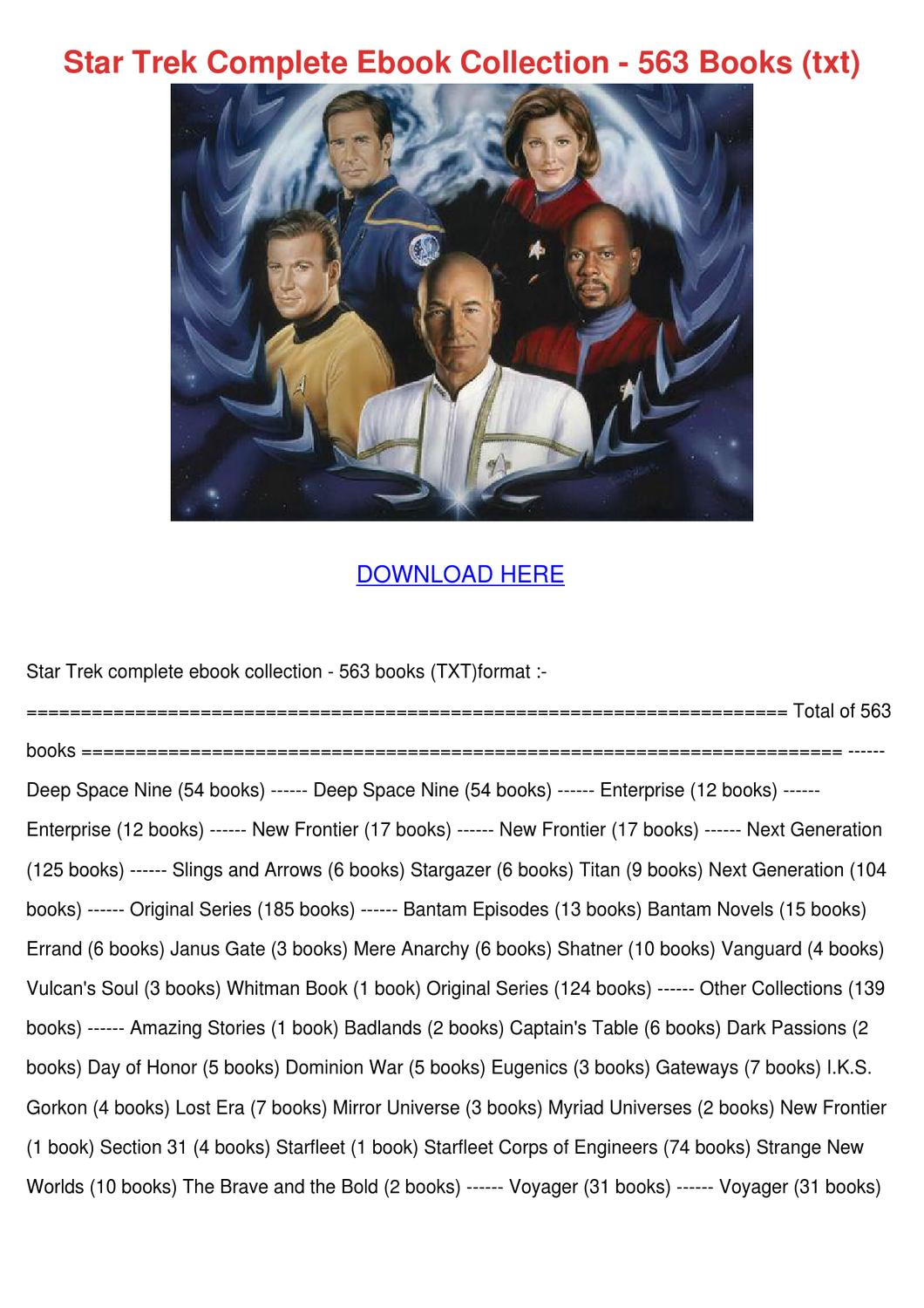 Star Trek Complete Ebook Collection 563 Books by MohammedMichels ...