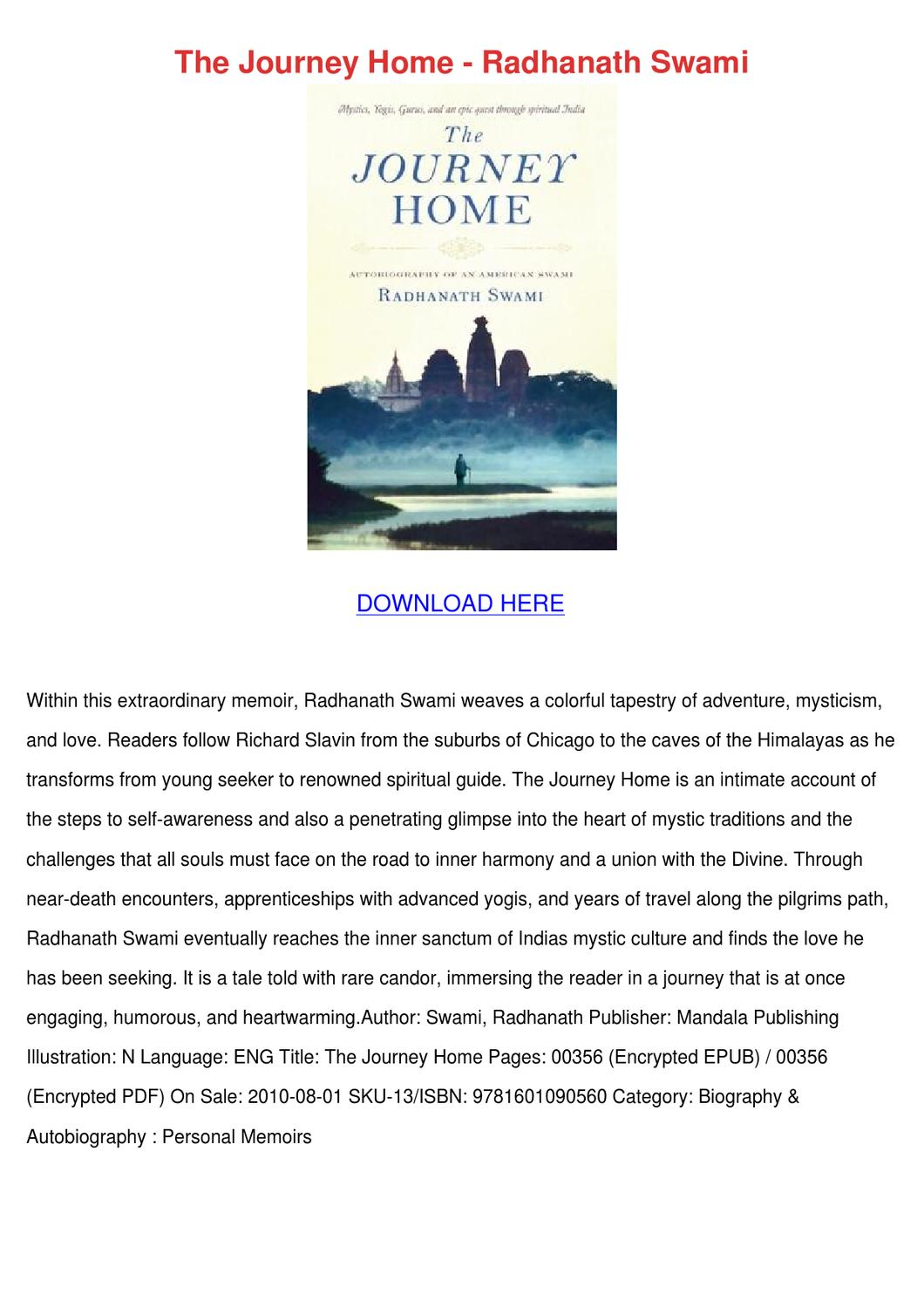 The Journey Home Radhanath Swami Pdf
