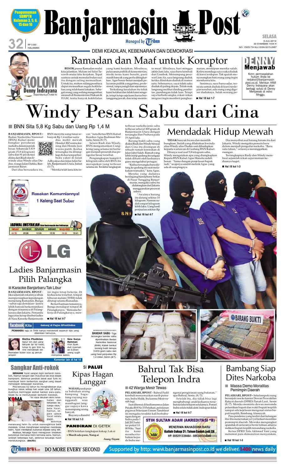 Banjarmasin Post Selasa 9 Juli 2013 By Issuu Fcenter Lemari Pakaian Wd Hk 1802 Sh Jawa Tengah