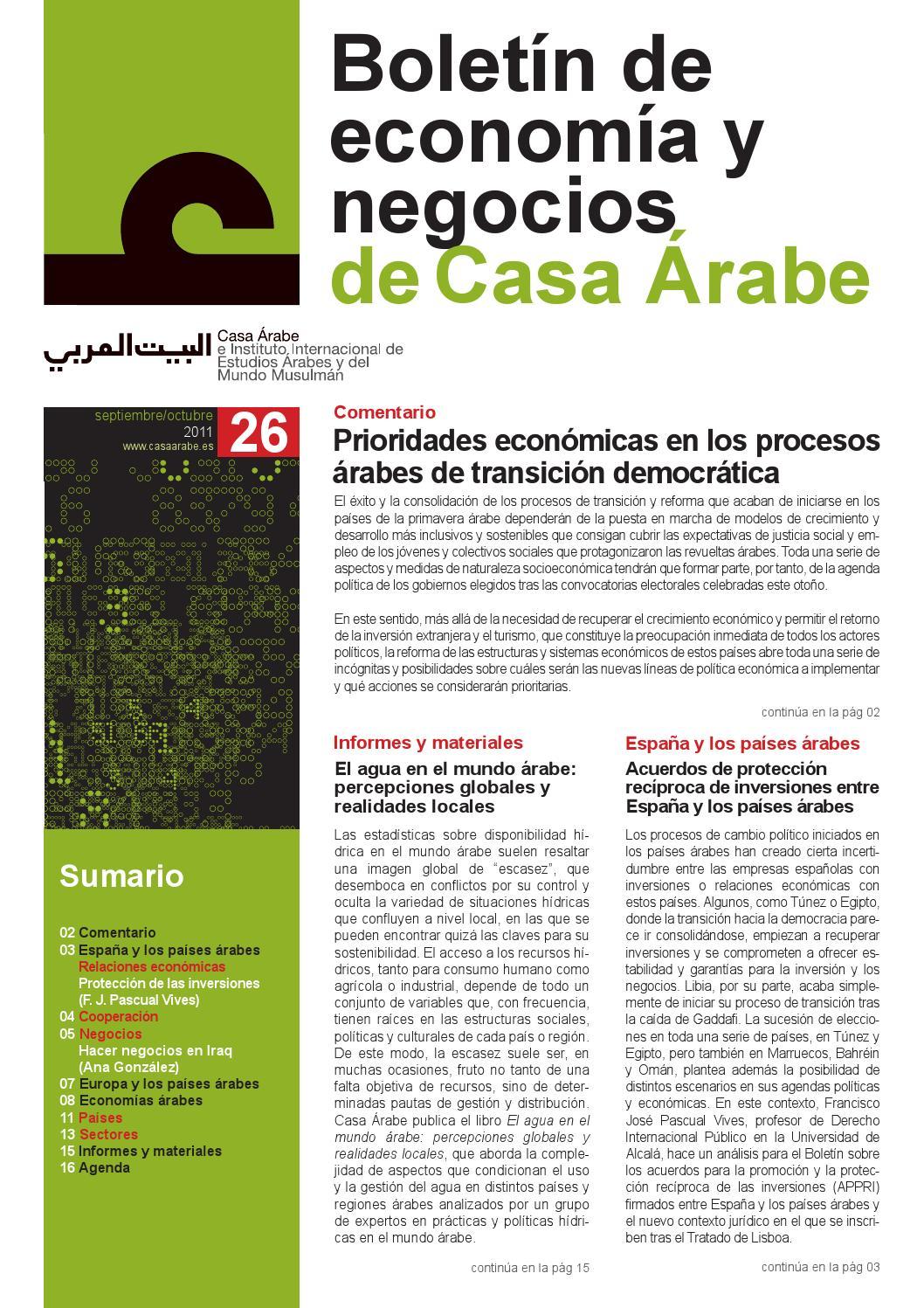 Boletín de economía y negocios de Casa Árabe nº 26 by Casa Árabe ...