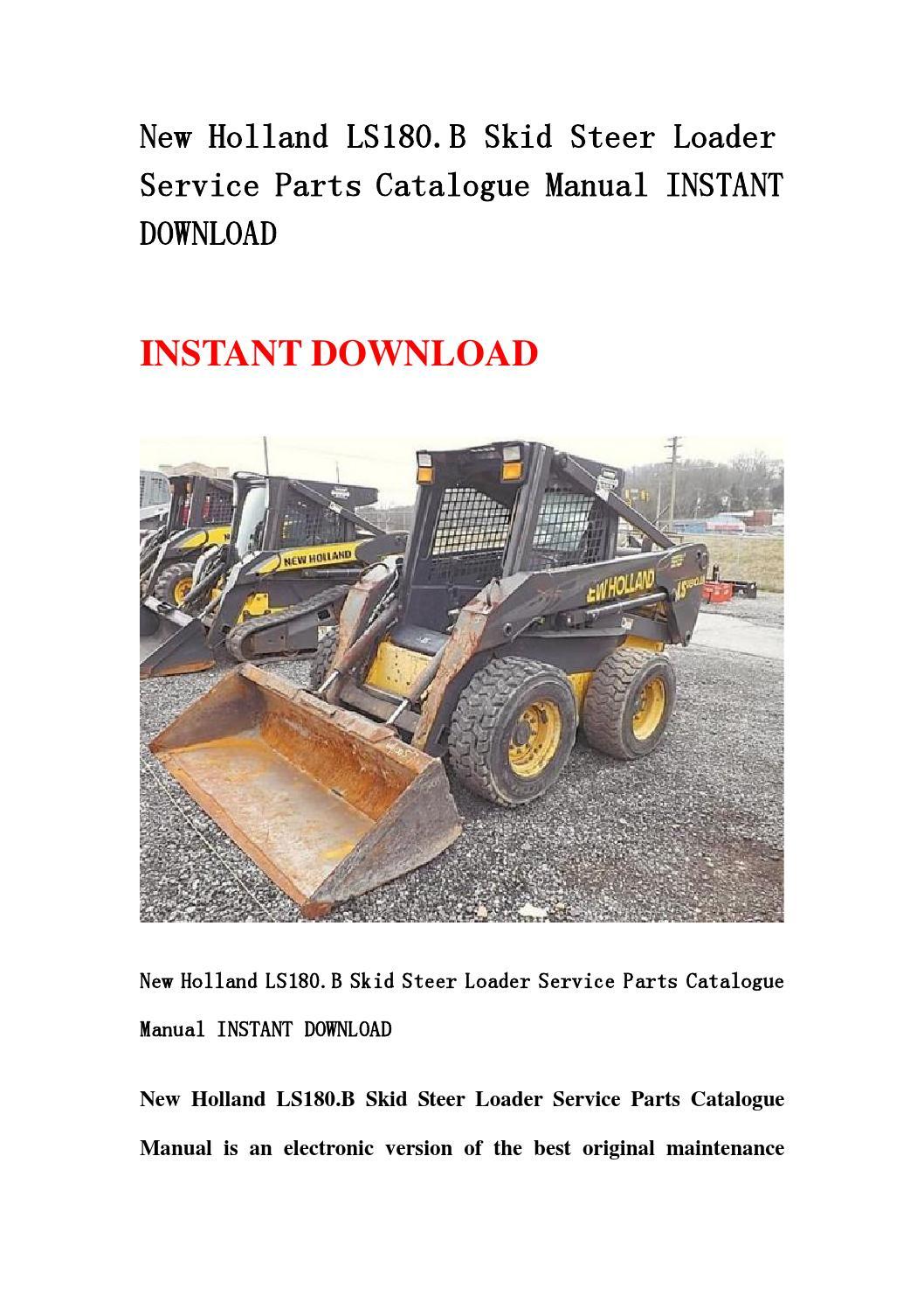 new holland skid steer manual