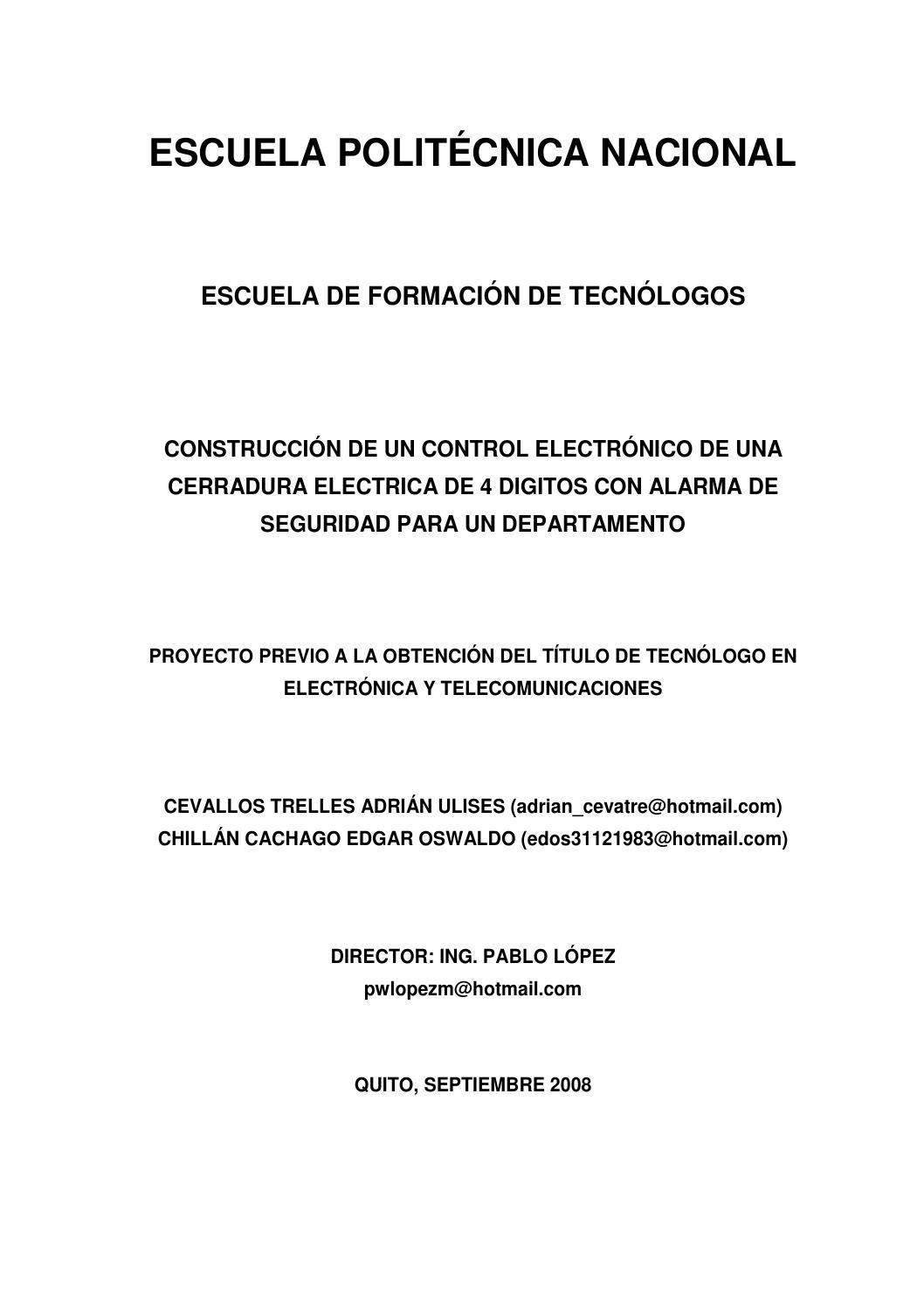 Cerradura electronica by Ivan Viton Bazan - issuu