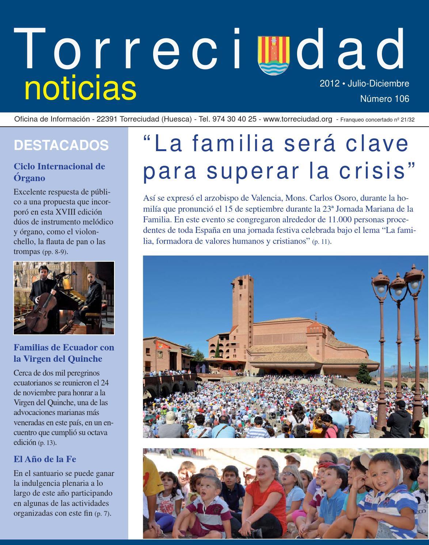 Torreciudad Noticias Julio-diciembre 2012 by Patronato de