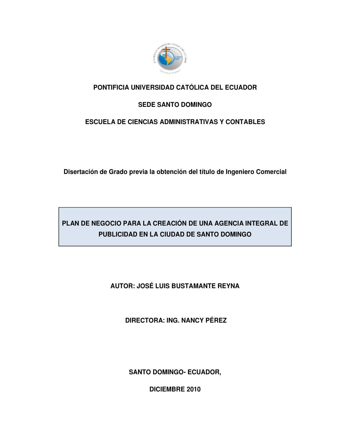 Creación de una agencia integral de publicidad en la ciudad de Santo ...