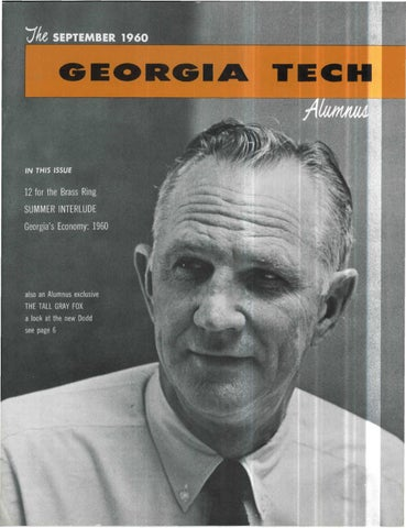 Georgia Tech Alumni Magazine Vol. 39, No. 01 1960 by Georgia Tech ...