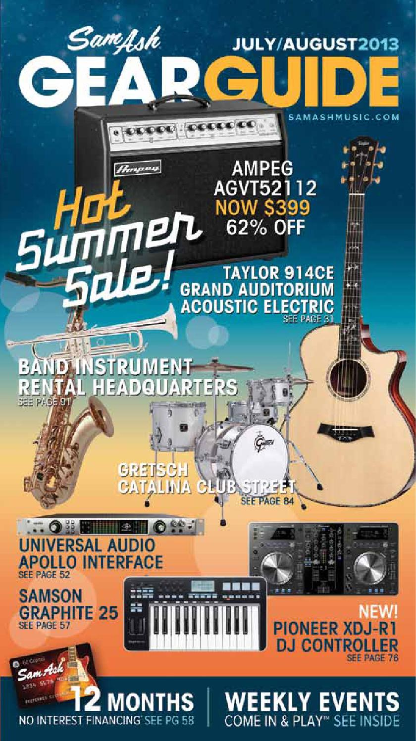 July/Aug 2013 GearGuide by Sam Ash Music Corp. - issuu
