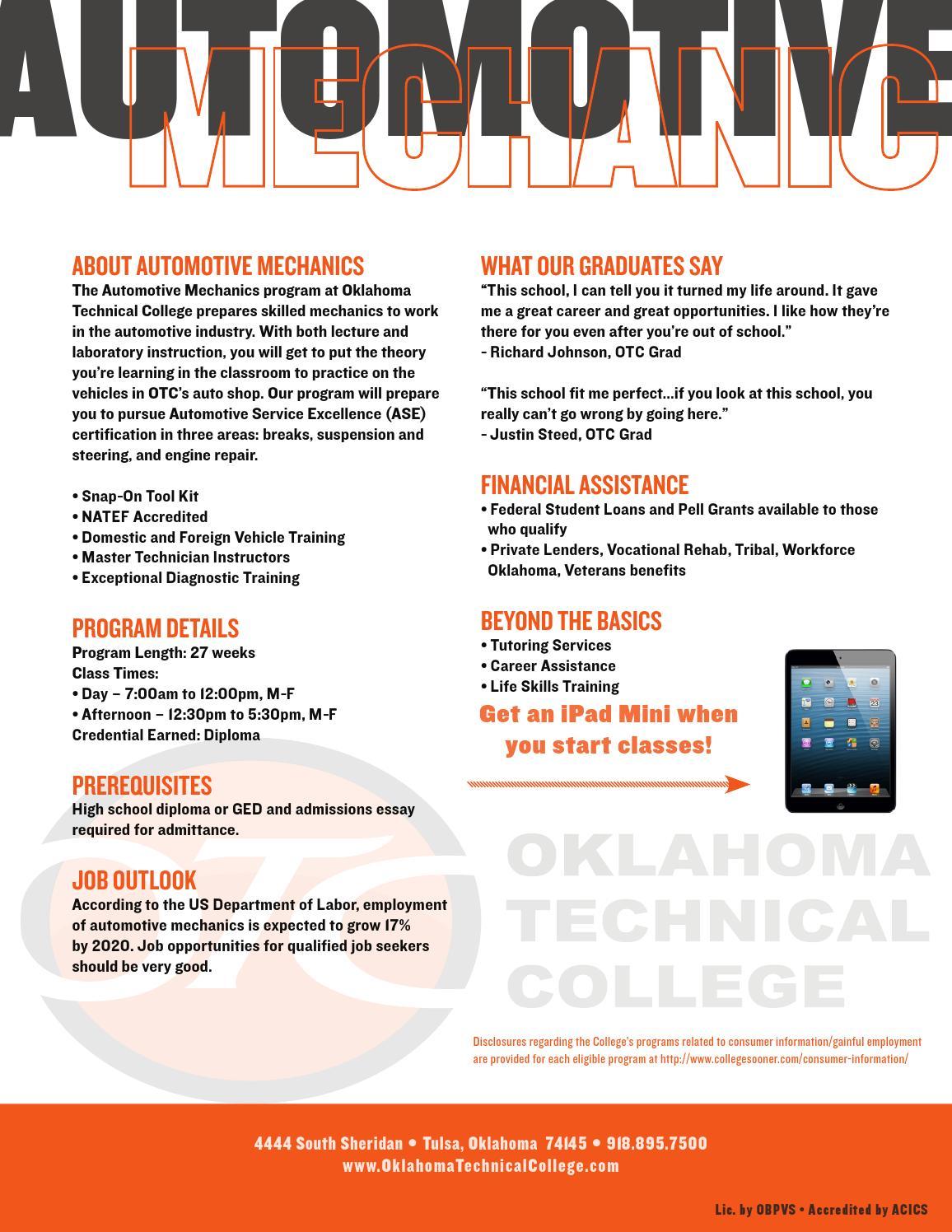 Otc Automotive Mechanic By Community Care College Clary Sage